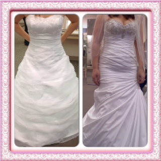 Wedding Dress Cons Tafetta Is Loud Very Figure Forming Have To Get A Nonpush Up Bra They Gave