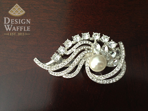 Semi homemade Wedding Hairclip Accessory