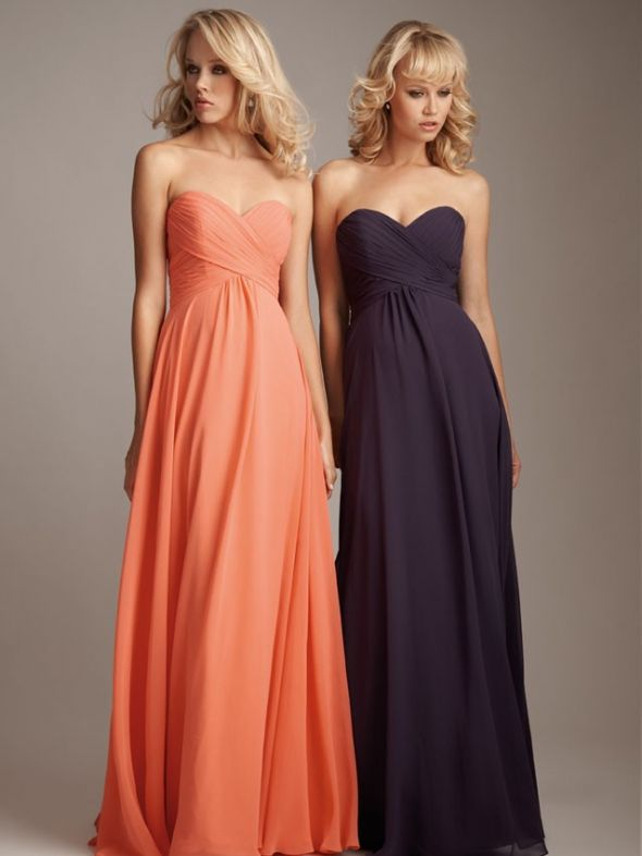 Searching For Sherbet Light Orange Pinkish Bridesmaid Dresses