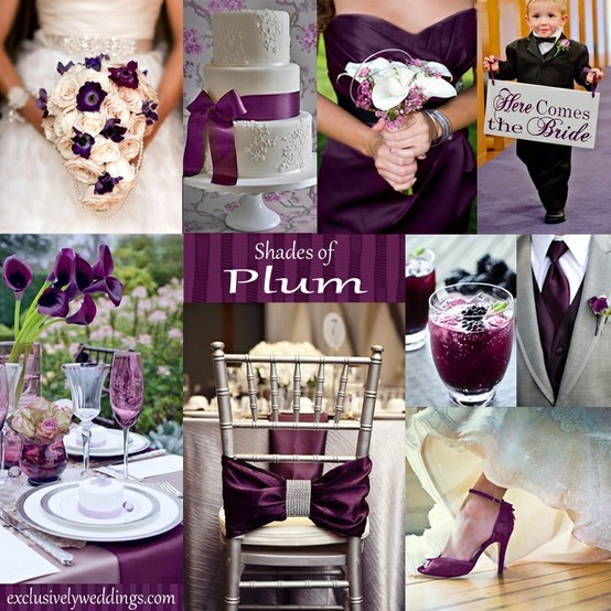 Stunning Plum Wedding Color Schemes Ideas - Styles & Ideas 2018 ...
