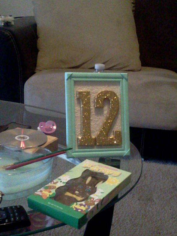 My DIY project Picture Frame Table Numbers