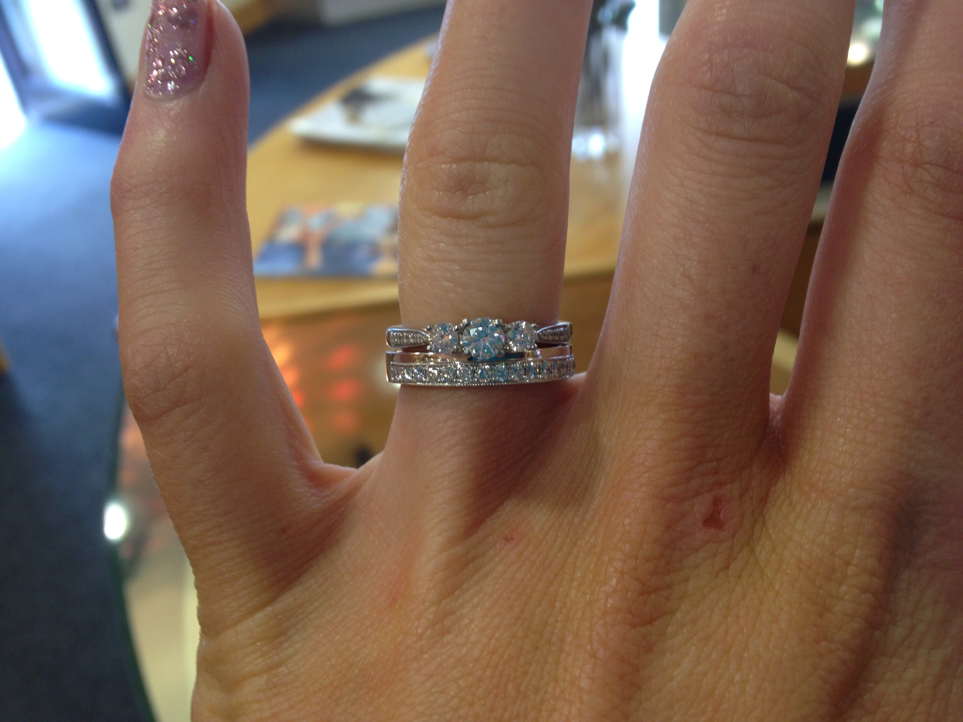 More wedding ring shopping Do you think this ring is too chunky