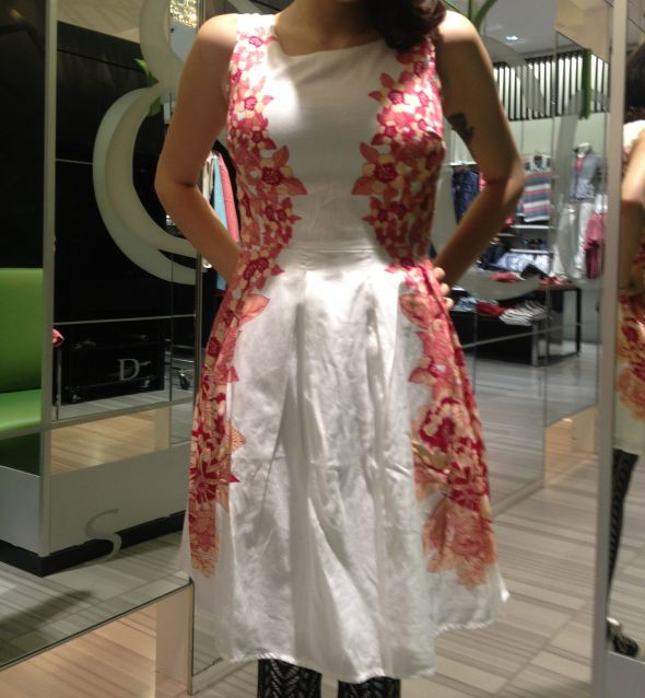Is it ok to wear a white dress with floral print to a wedding?