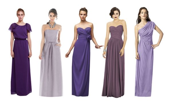 Brideside.me Purple Dresses