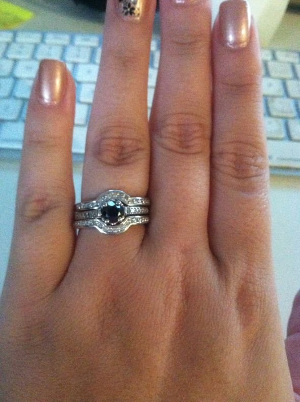 engagement rings on dark fingers wwwimgkidcom the
