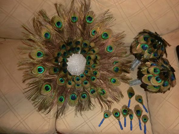 Peacock Feather Bouquets!