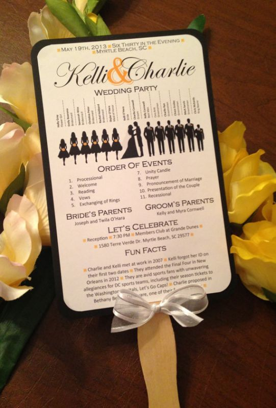 diy wedding ceremony programs