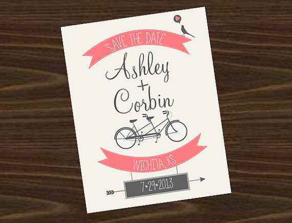 Cute Save the Date Vintage Bicycle..Thoughts?
