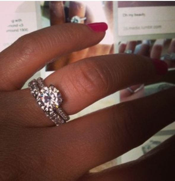 Black Women Hands With Engagement Ring