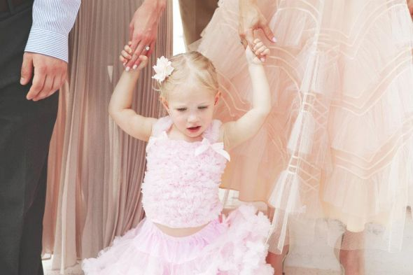 Flower Girl Pettidress and Tutus :  wedding flower girl pettidress pettiskirt pettitop pink ribbon wand tutu 314798 10100420668414082 1604284224 N