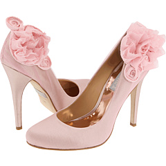 Розовые свадебные туфли