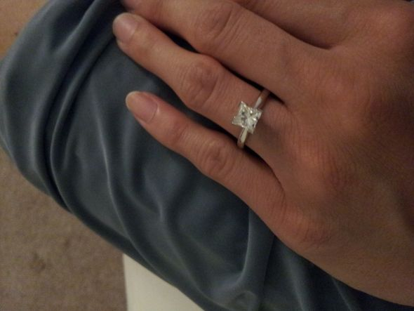 here's mine: .96 ct w solitaire enhancer. 1.33 tcw