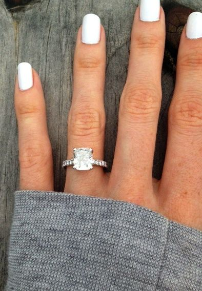 2 5 Carat Cushion Cut Rings PLease share your beauties Weddingbee