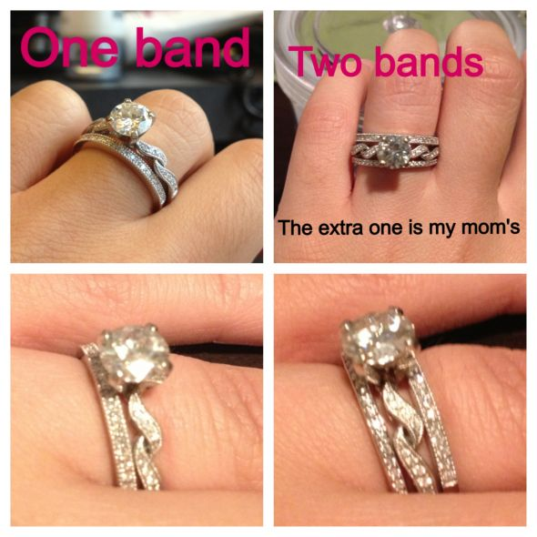 But I Wonder If My Engagement Ring Would Look Better With Two What Do You Think M All For More Bling We Can Afford It