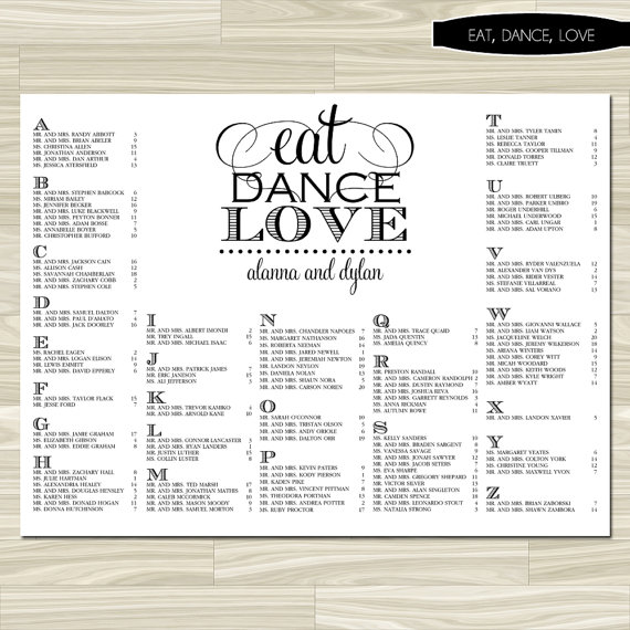 Bridal Table Seating Pictures to Pin PinsDaddy – Wedding Seating Chart Template Free Printable