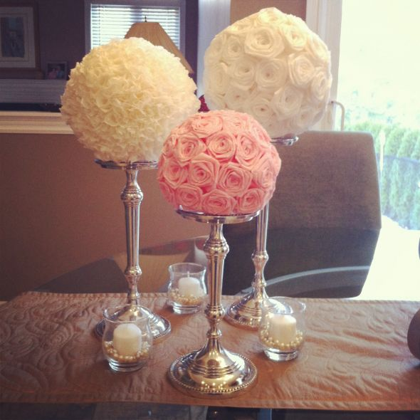 diy paper flower centerpiece round 2