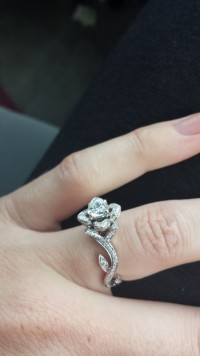 The Rose Shaped Engagement Ring