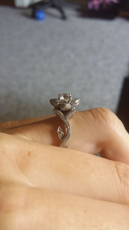 Elegant Iu0027ve Been Saying For Weeks Now That Iu0027m Going To Stop Thread Jacking And  Start My Own Post On My Rose Shaped Engagement Ring. So Here Is Is.