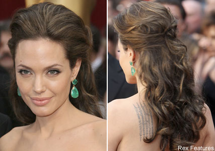 wedding hair updo wavy veil Hair Angelina