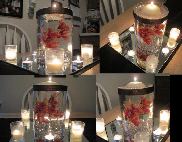 Inexpensive DIY Centerpiece with some style