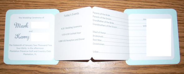 DIY Programs wedding programs pocket diy teal green invitations Program