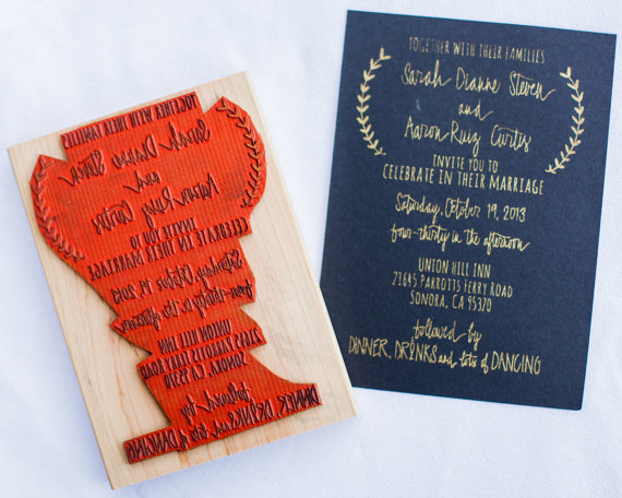 Has anyone diy STAMPED their invitations