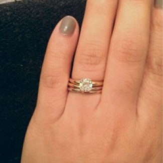 My rollingtrinity ring wedding band is here