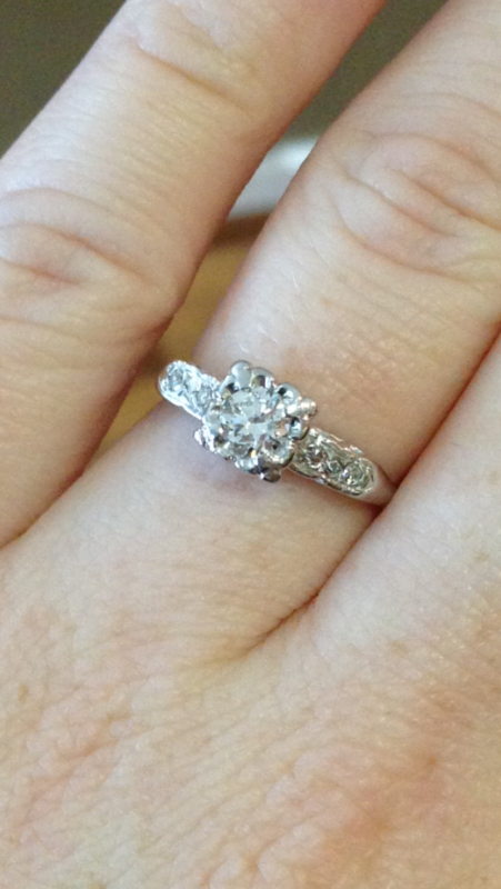 Heirloom Engagement Ring wedding band ideas