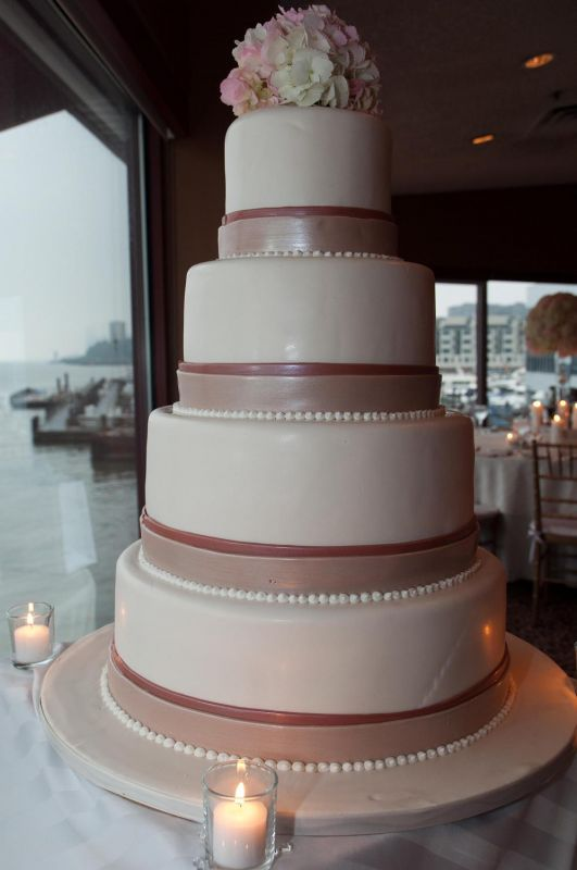Pink and Gold Brides wedding pink gold wedding Cake