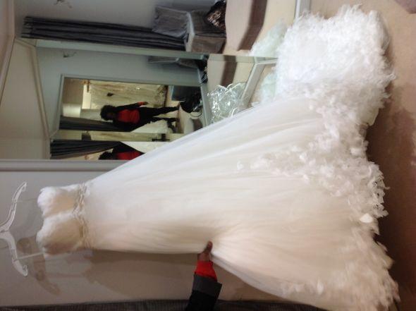 Closed Pronovias Feather Empire Dress Style Name Anyone