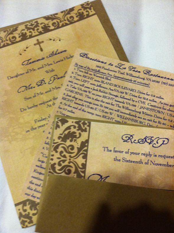 I love love love my husband - he designed the BEST wedding invitations!