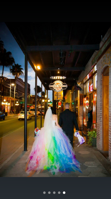 Rainbow wedding dress junglespirit Gallery