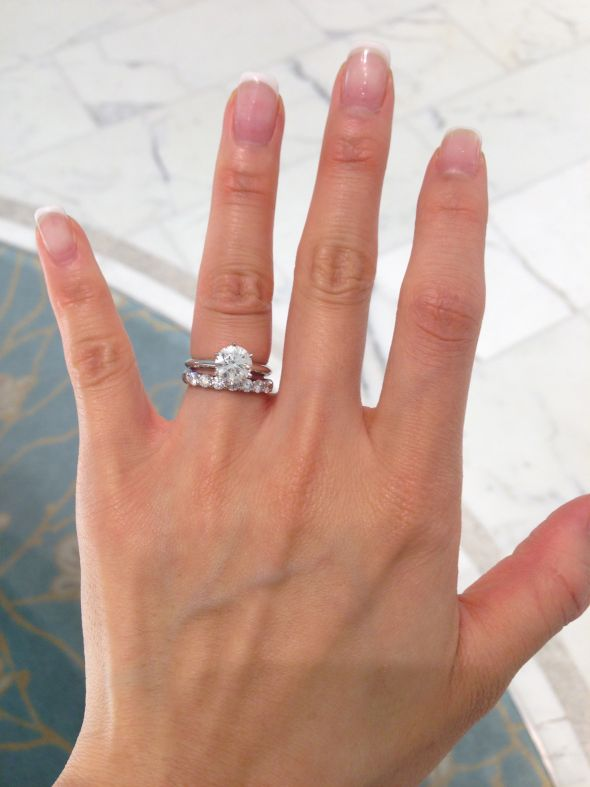 Help with choosing Wedding Band with Solitaire Ring Photo Heavy