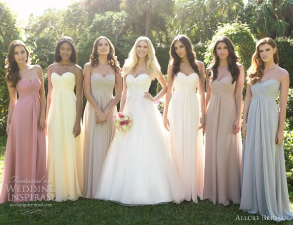 Only Two Bridesmaids Can They Wear Different Colours,Below The Knee Dresses For Wedding Guests