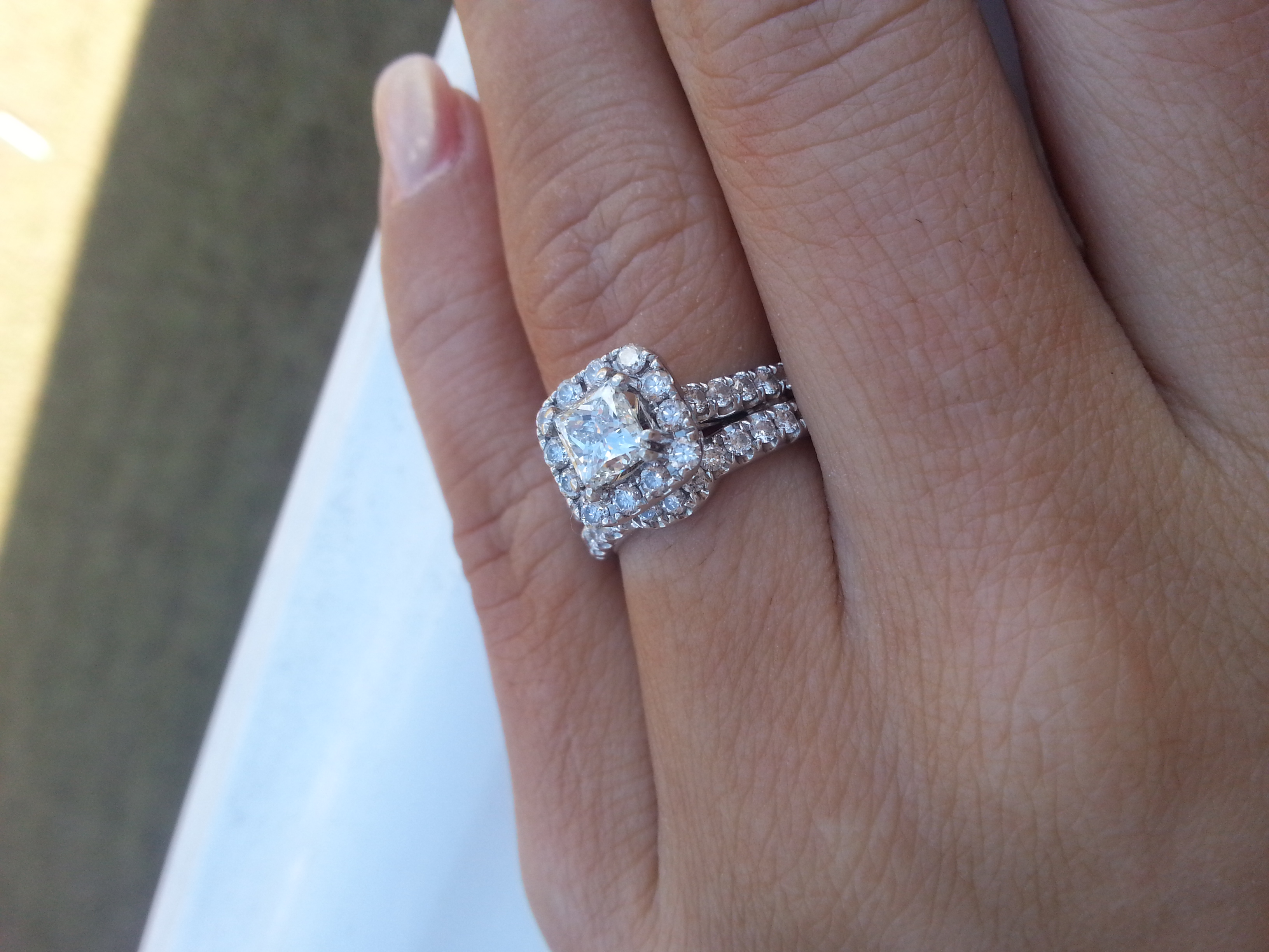 ring topic band s round cut sets mine pics and engagement diamond princess diamonds is here wedding mixed