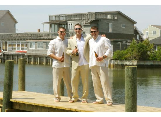 Beach wedding groom pictures I like of my SIL