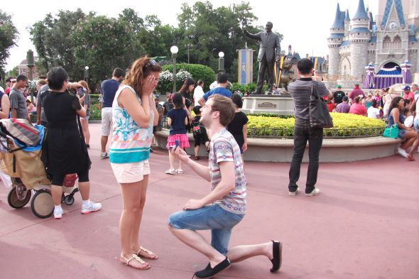 Disney World Proposal! My dream came true!