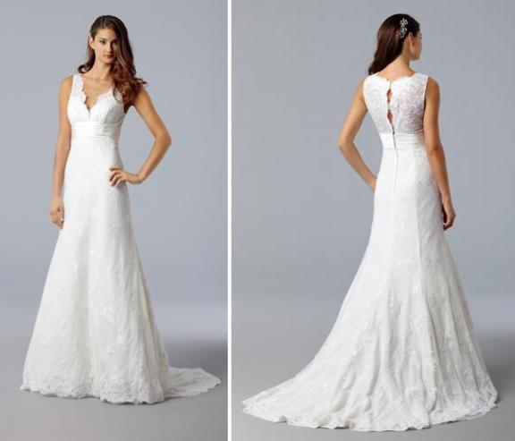 Wtoo Or St Patrick Opposites HELP - Covered Back Wedding Dress