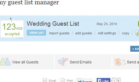 the knot guest list manager users