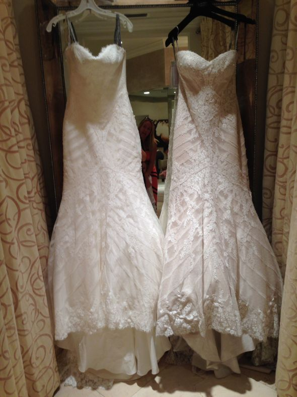 Ivory Or Champagne Colored Wedding Gown
