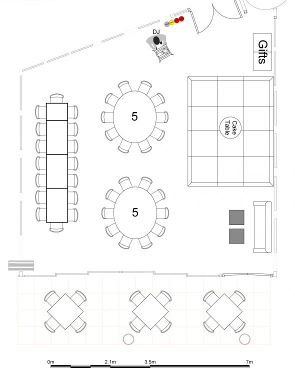 Wedding Reception table layout picture – thoughts ?