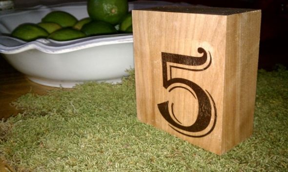 Wood Table Numbers wedding wood table numbers rustic Table Number