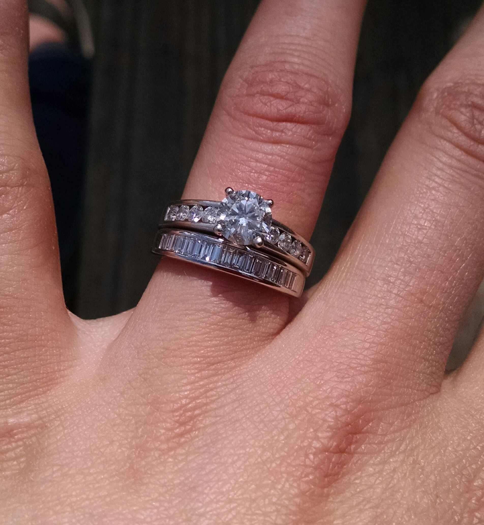 Got my wedding band- Excited & wanted to share! Channel baguettes