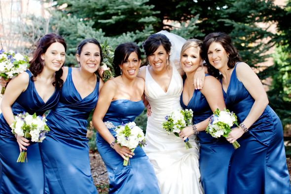 Bill Levkoff European Royal Blue Bridesmaid Dresses wedding bill levkoff