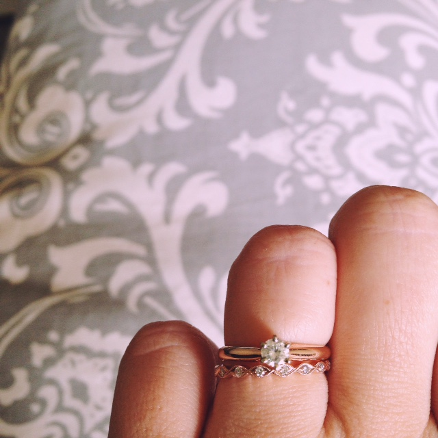 I Picked Up My Wedding Band Today Show Me Your Mismatched Dainty