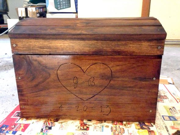 Wood chest cardbox