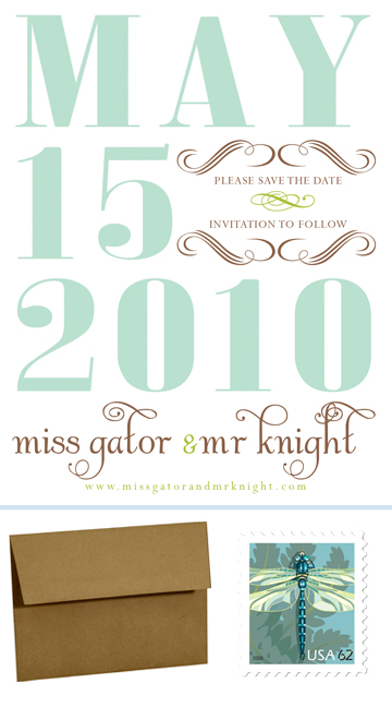 A Modern Save the Date Magnet wedding save the date 1 magnet spring