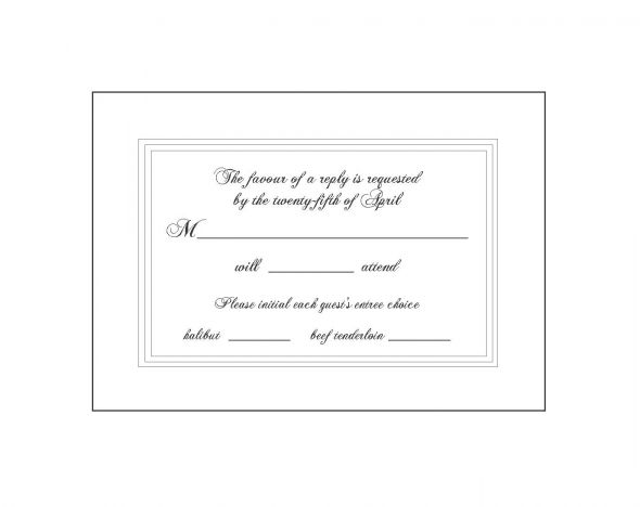 Response card wording minus the wiggle room wedding response card