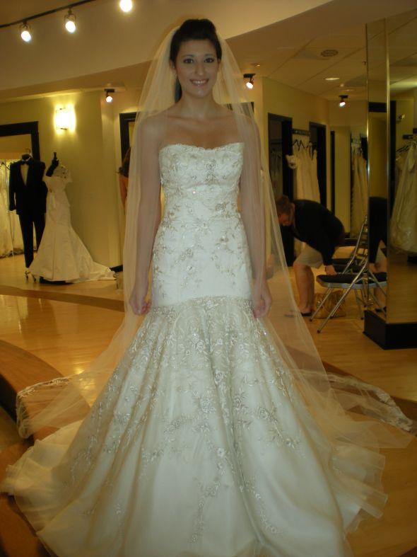 Lazaro Wedding Dress with Little Flowers
