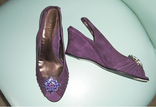 Purple Wedding Shoes Size 8 1 2 25 Weddingbee Classifieds